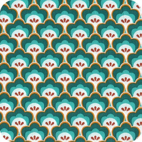 Tissu Soft Cactus Seashore Shelly - turquoise
