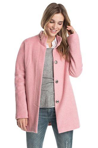 Esprit / Douce veste en laine, boutons-pression