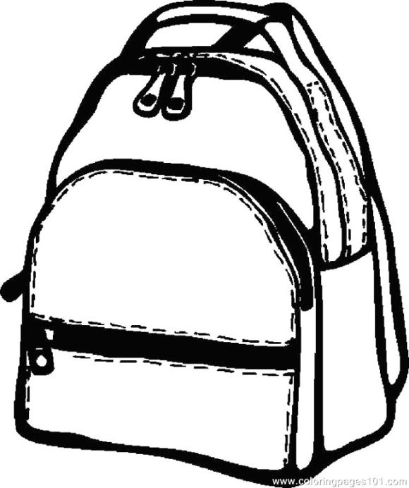 Backpack Coloring Page Backpacks