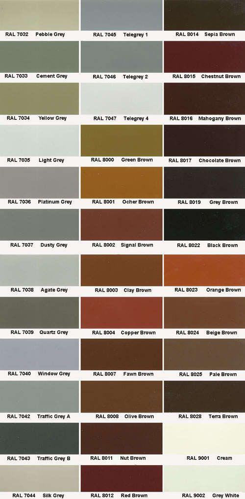 RAL color deck