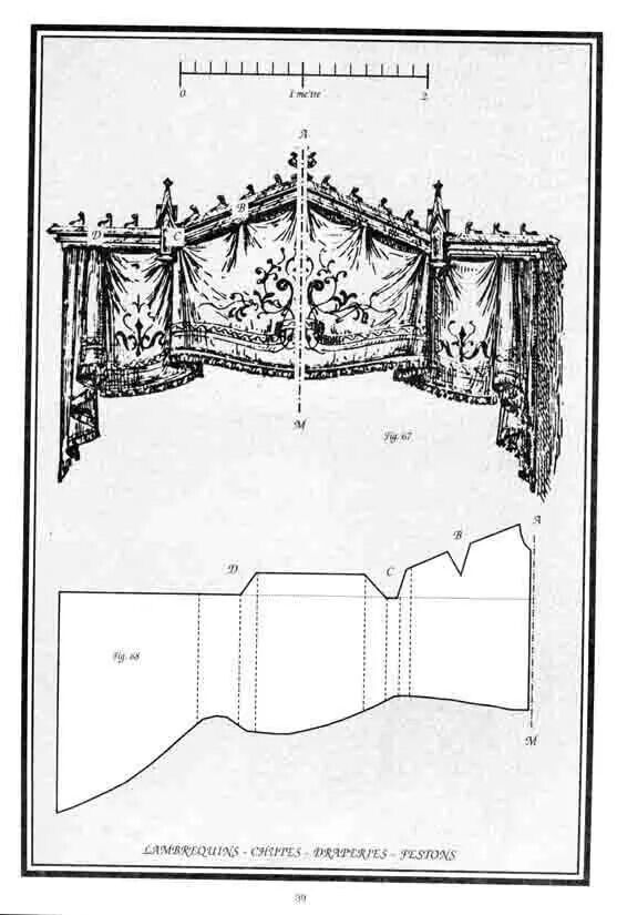 Pattern for ornate cornice/valance/lambrequin.