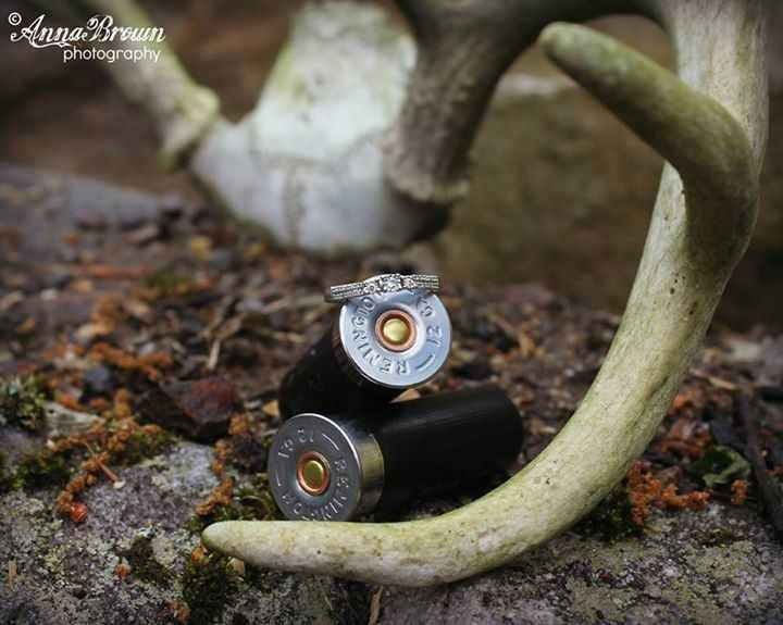Antlers Shotgun Shells Engagement Ring
