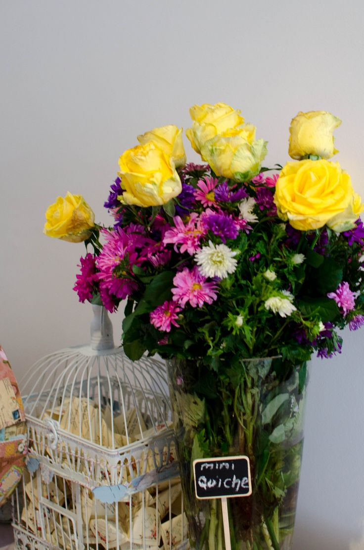 Beautiful flowers to compliment any table always works best