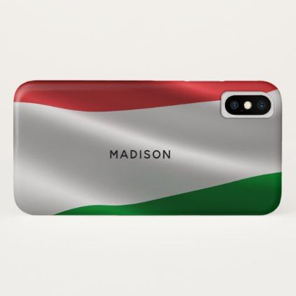 Hungarian Flag custom monogram phone cases - monogram gifts unique design style monogrammed diy cyo customize