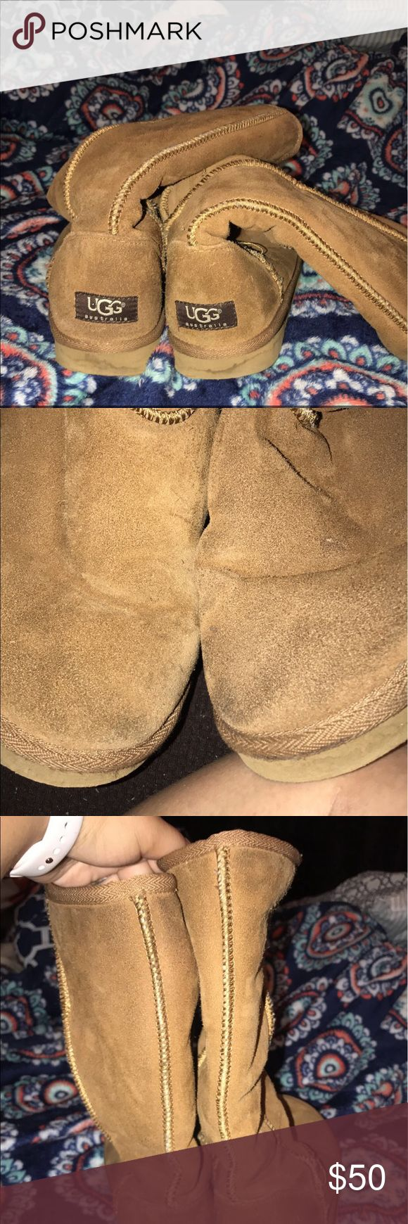 Tall Ugg Boots! Tall ugg boots! Chestnut color! EUC! UGG Shoes Winter & Rain Boots
