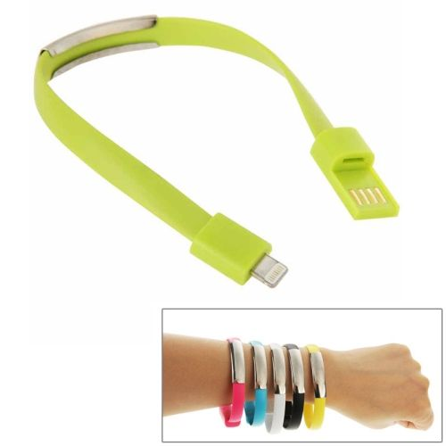 [$0.83] Wearable Bracelet Sync Data Charging Cable for iPhone 6 & 6S & iPhone 5S & iPhone 5C &iPhone 5, Length: 24cm(Green)