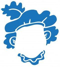 ~Spiegelsticker van Zwarte Piet zodat kinderen hun eigen gezicht erin zien van Hollandinhuis.nl~