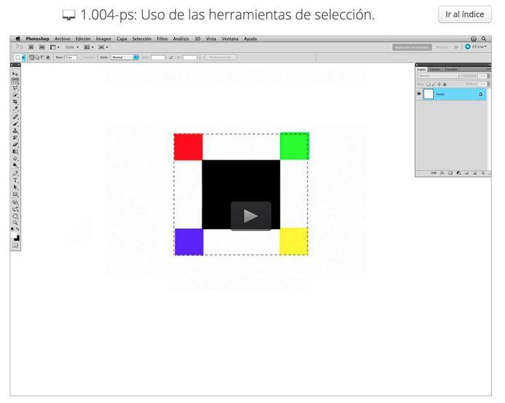 1.004-ps: Uso de las herramientas de selección.Descripcion y funcionalidades de las herramientas marco y lazo junto con otras funcionalidades que nos ayudarán a distinguir entre mover una selección o mover el contenido de dicha selección.