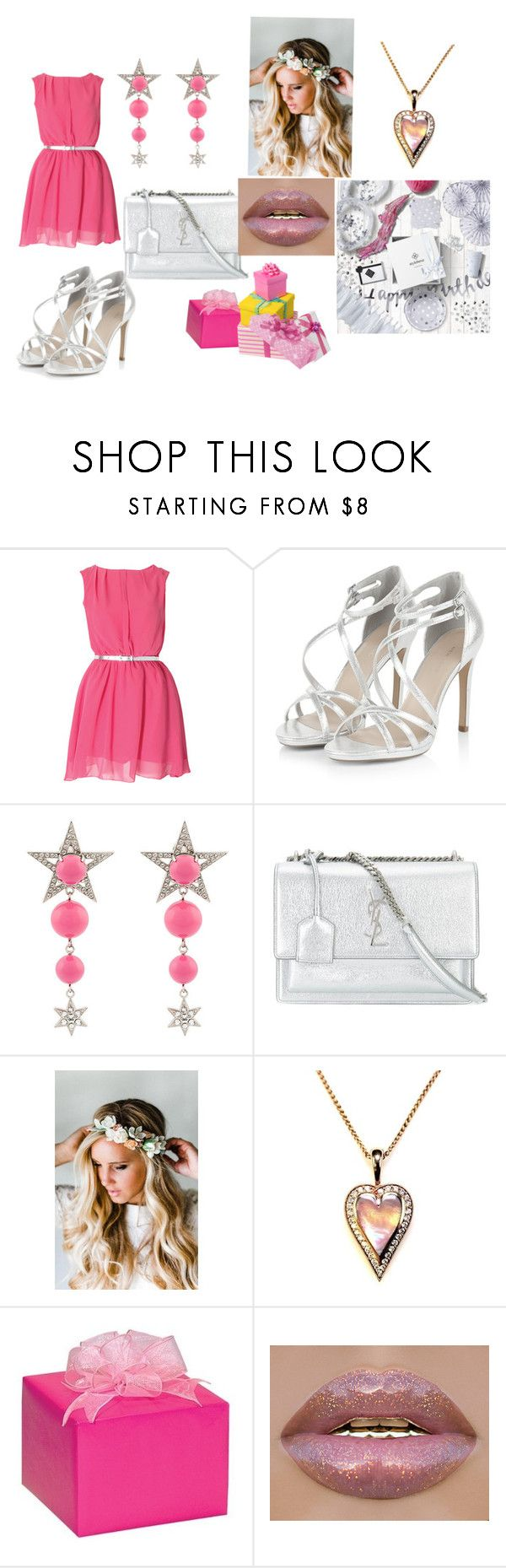 """Happy Sweet 15"" by kedaboo ❤ liked on Polyvore featuring Miu Miu, Yves Saint Laurent and Emily Rose Flower Crowns"