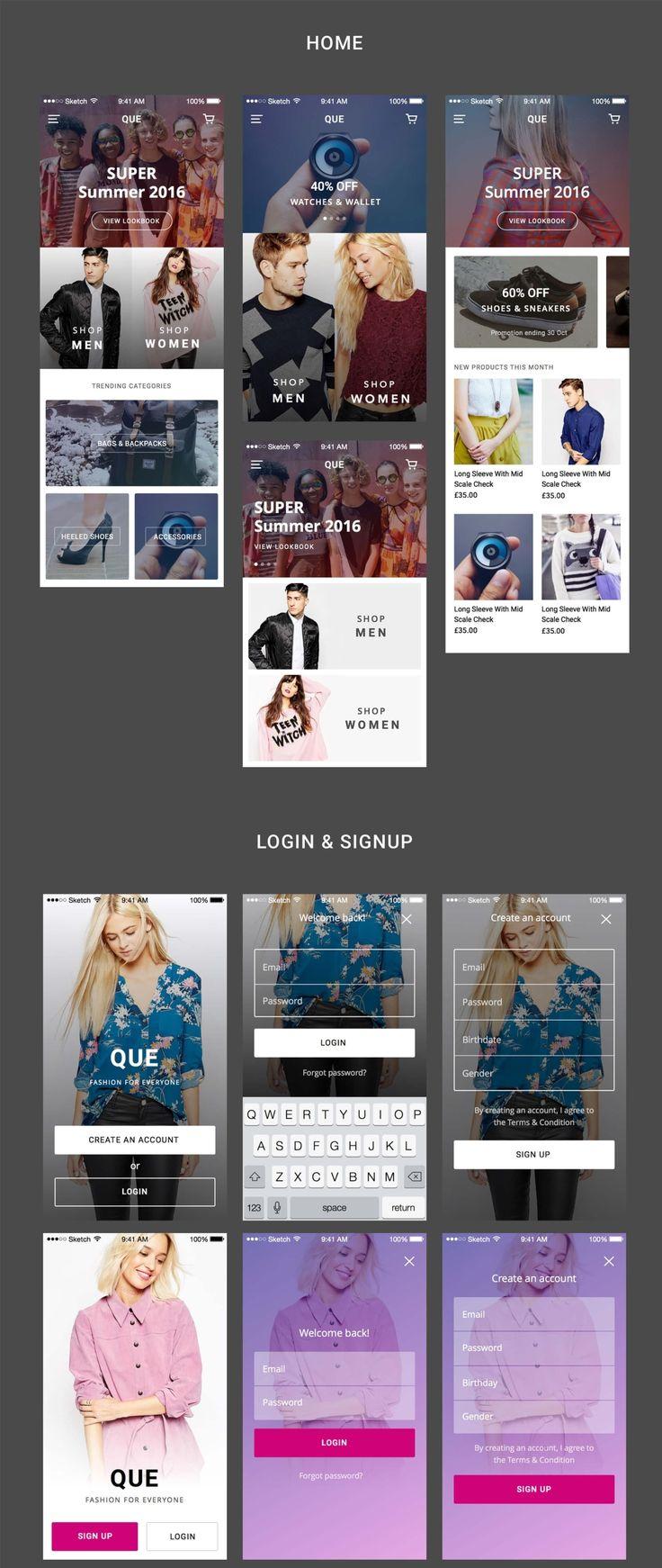 QUE Commerce UI Kit