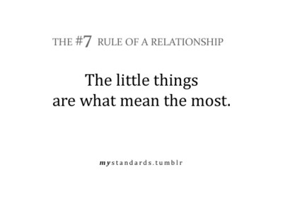 remember the little things in a relationship