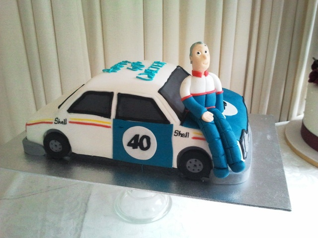 Rally car cake with model by cacamilis, via Flickr