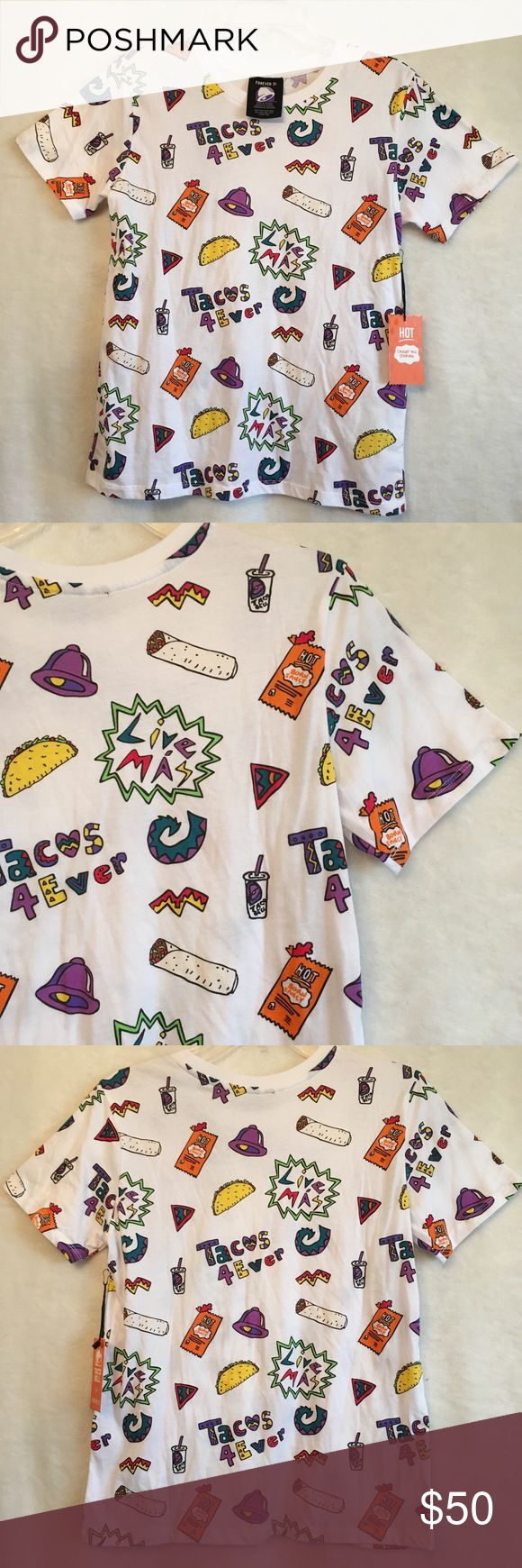 NWT Taco Bell & Forever 21 Limited Edition T Shirt Forever