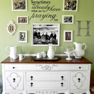 Buffet Decor Idea And Picture Placement