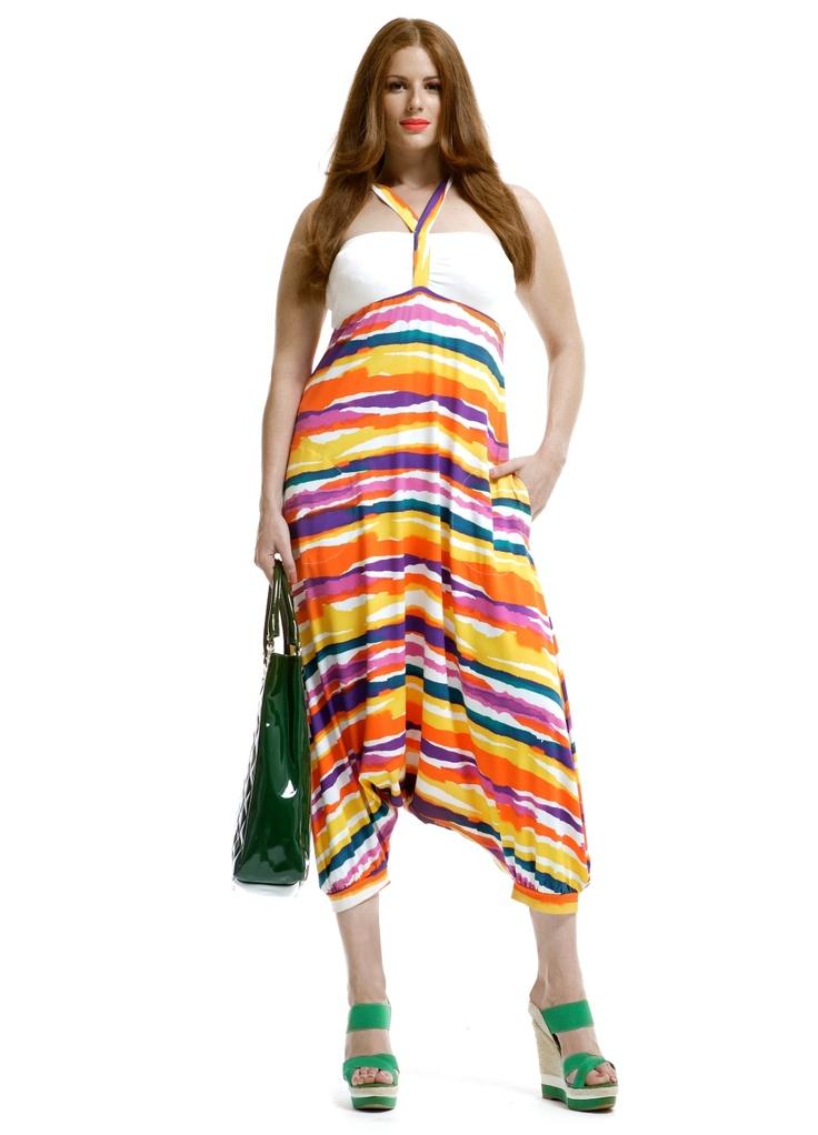 Jumpsuit harembroek streep print::jumpsuit::Grote maten mode | Bagoes fashion | grote maten mode online