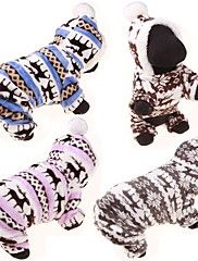 Dog+Hoodie+Jumpsuit+Sweaters+Winter+Clothing+Dog+Clothes+Casual/Daily+Reindeer+Gray+Coffee+Blue+Pink+Leopard+Costume+For+Pets+–+USD+$+5.99
