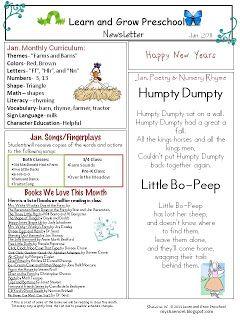17 best ideas about Preschool Newsletter Templates on Pinterest ...