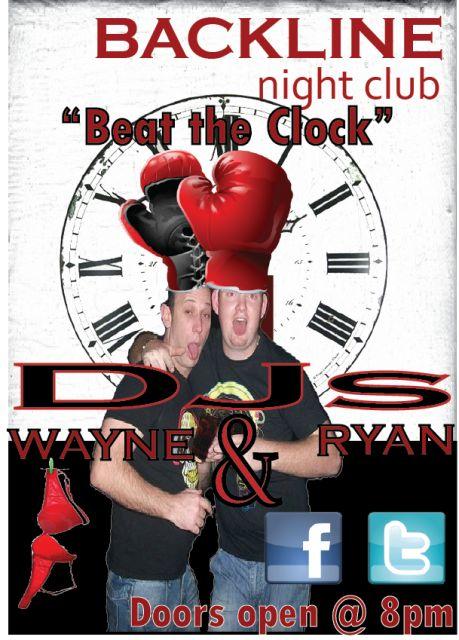 Beat The Clock with DJs Wayne & Ryan @ Backline | South Coast Live