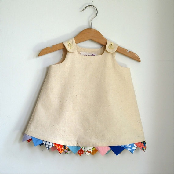 bunting dress... adorable idea!!