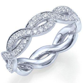 Diamond Eternity Anniversary Ring 14k White Gold or by ldiamonds, $1284.00