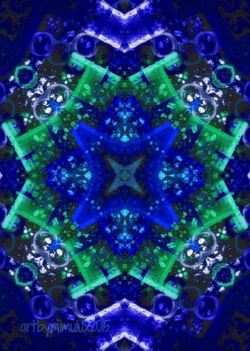 Blue Star Mandala by mimulux patricia no