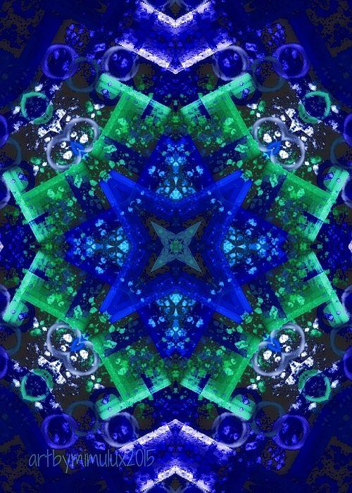 Blue Star Mandala by mimulux patricia no