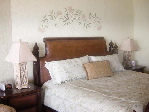 Tropical Bedrooms From Dawn Pratt On Hgtv Bedroomwalldecorideasabovebed Wall Decor Bedroom Asian Inspired Bedroom Tropical Bedrooms