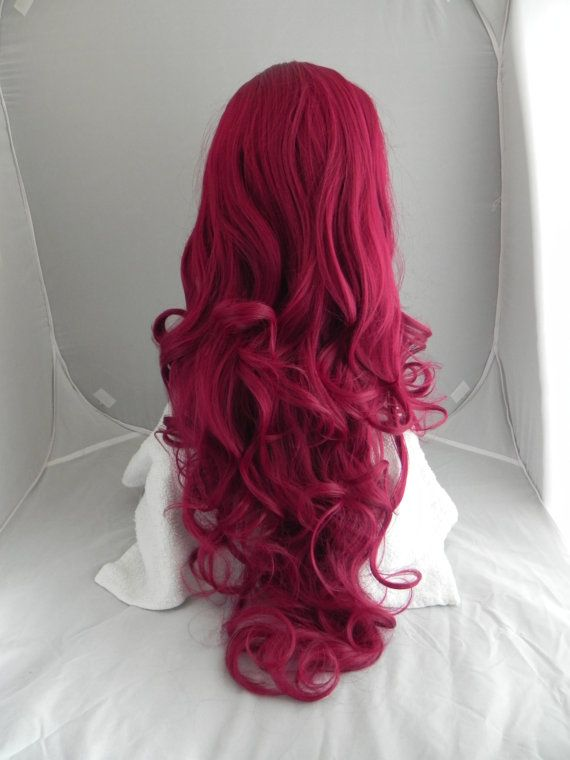 HALLOWEEN SALE // Auburn Red / Long Curly Layered Wig by ExandOh