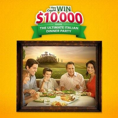 Canadians! Enter daily to WIN a Villaggio Dinner Party worth 10,000 dollars!
