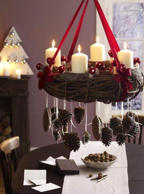 Decoraciones piña Nochebuena