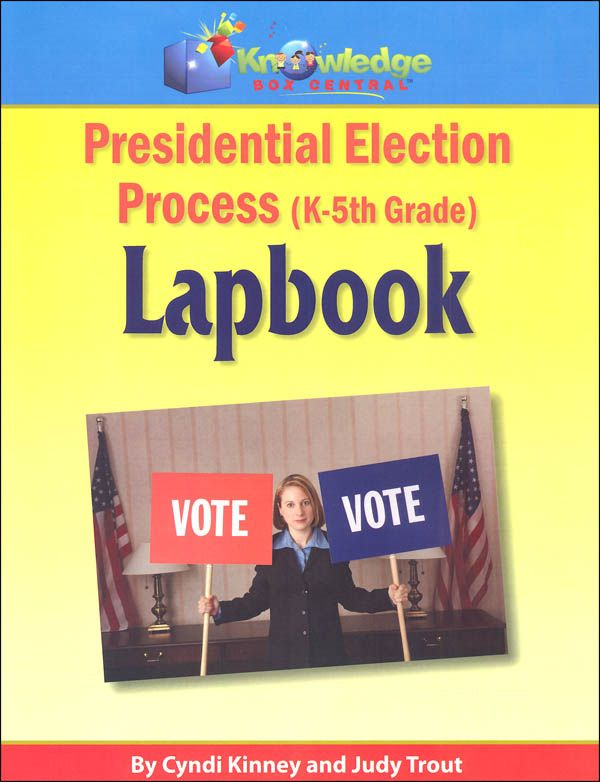 Presidential Election Process Lapbook for Grades K-5 Printed | Main photo (Cover)