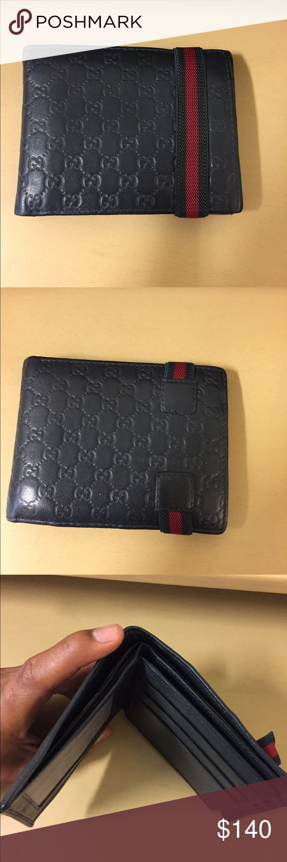 Gucci MicroGuccissima Bi-Fold Wallet Dark Green Mint condition Gucci bi-fold wallet, bought it from another poshmark user for $280 but need money to buy louis vuitton wallet Gucci Bags Wallets