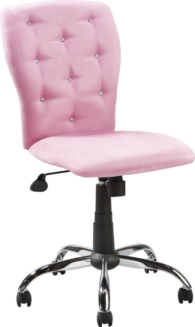 Kids Lucille Pink Desk Chair In 2020 Pink Desk Chair Pink Office Chair Desk Chair