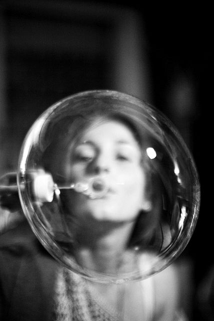 ְImagine if your thoughts in the moment were like this bubble which collapses back on you?