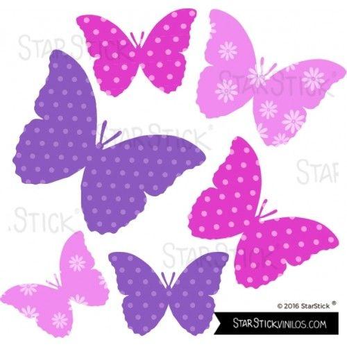 Mariposas fucsia vinilos decos pinterest - Mariposas para decorar ...