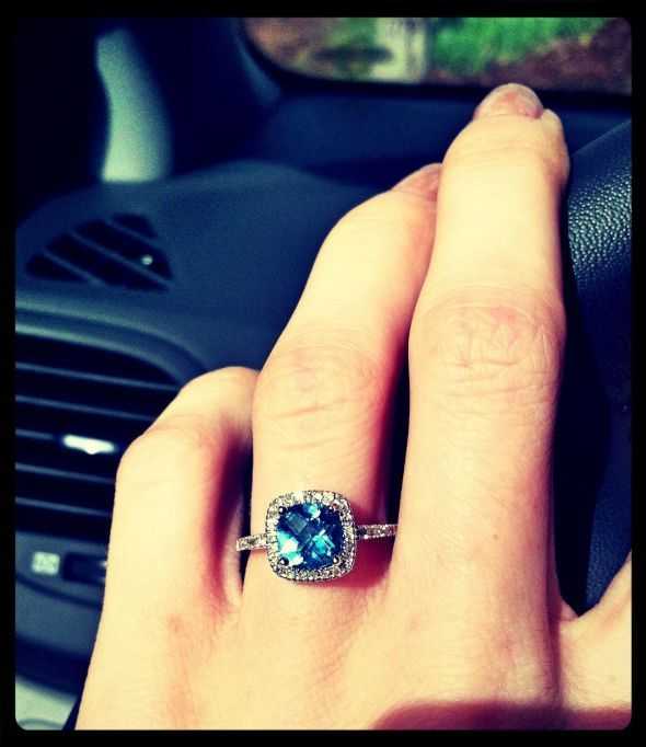 Post your colored gemstone engagement rings! - Weddingbee   Page 7