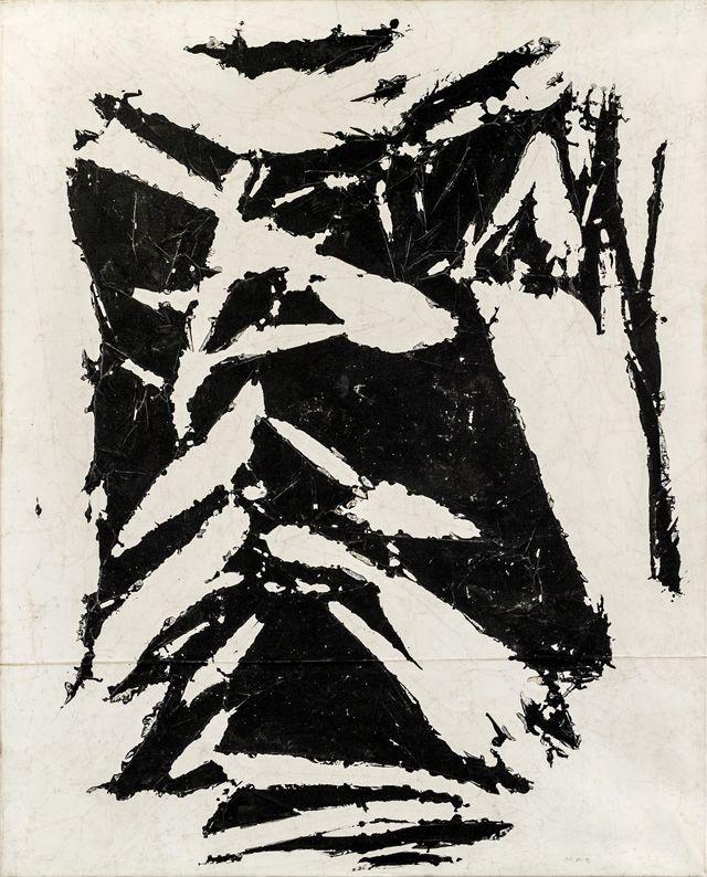 "Simon Hantai, ""Laissée"" (1981–1994), acrylic on canvas, 77 ¼ x 62 in. (image courtesy Paul Rodgers/ 9W Gallery, Photo: Francois Bisi)"
