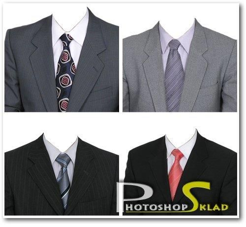Photoshop мужские костюмы фото на документы psd