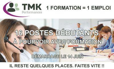16 postes avec formations à pourvoir avec TMK Performances !