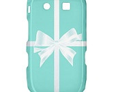 NEW Tiffany Box with Bow BlackBerry Curve 8520 9300 Hardshell Case Cover BB Curve 8520 9300 Case - Available for other type of BB. $17.00, via Etsy.
