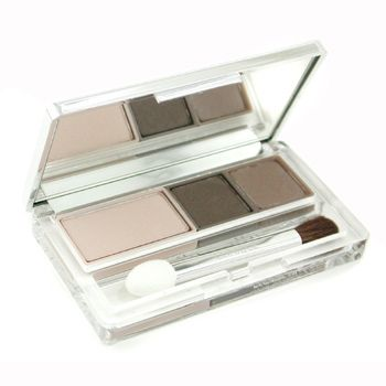 Dark Winter begins with True Winter's very cool palette and looks at it through a layer of soot. Clinique Totally Neutral Eyeshadow trio is a great everyday palette. In Canada, you could buy Joe Pebble powder eyeshadow, apply it with a wet brush to get a darker layer.