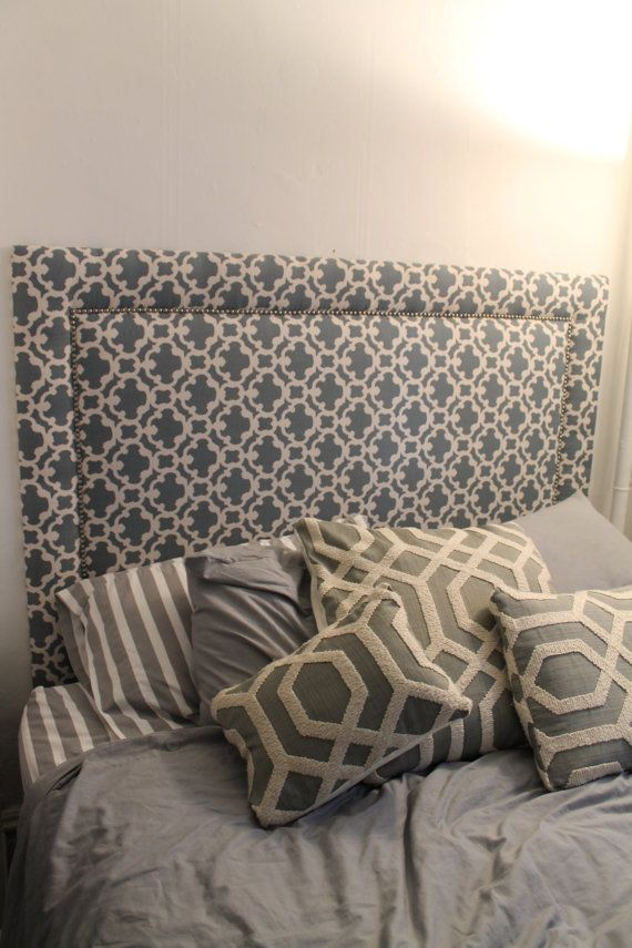 Upholstered Headboard Queen Or Full With Solid By HoosBeingCrafty, $325.00