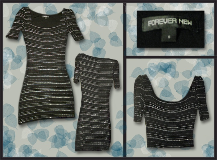 Forever New, glittler striped  Size: 6  Price: $20