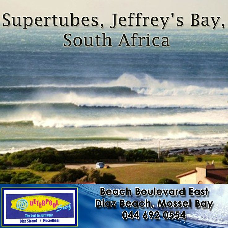 Surfing Spots! Supertubes, Jeffrey's Bay, South Africa. Known to many surfers as 'J Bay,' this is one of the most famous surfing destinations of the world located in the Eastern Cape province of South Africa. Visit J Bay during the winter months from June to August.#surfing #spot #JBay