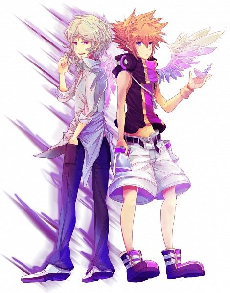 Neku and Joshua (The world ends with you)