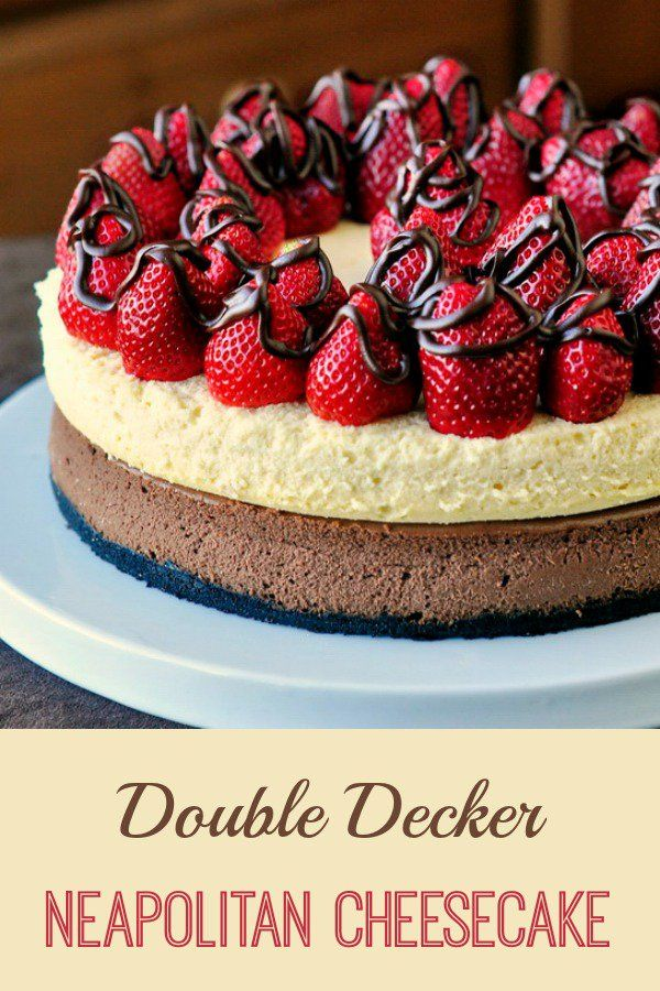 Double Decker Neapolitan Cheesecake - Don't want Pie for Thanksgiving dessert? There's always cheesecake! ...and this one's a knockout!