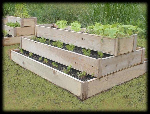 Vertical garden box vertical garden pinterest for Raised box garden designs