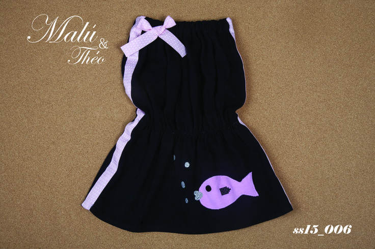 Pique strapless dress - Italian Style for kids