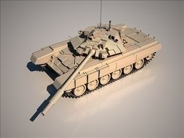 T90 3D Model-   rendered with V-ray 1,5 SP2 all texture and map included The T-90 is a Russian main battle tank (MBT) derived from the T-72, and is currently the most modern tank in service with the Russian Ground Forces, Naval Infantry and the Indian Army. The successor to T-72BM, the T-90 uses the gun and 1G46 gunner sights from the T-80U, a new engine, and thermal sights. Protective measures include Kontakt-5 ERA, laser warning receivers, the EMT-7 electromagnetic pulse creator for the…