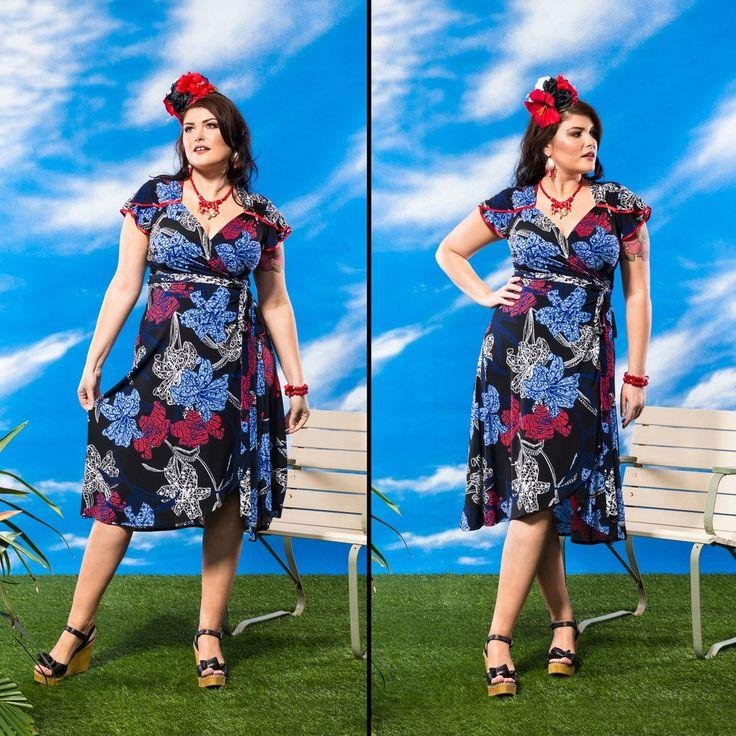 Bella Fiora Wrap Dress - Parfum. $305 (8-18) BUY NOW http://sprinkleemporium.bigcartel.com/product/bella-fiora-wrap-dress-2017